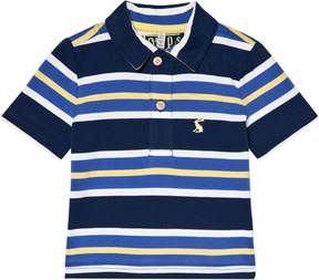 Joules Navy Blue and Yellow Stripe Polo Top