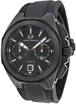 Girard Perregaux Chrono Hawk Automatic Black Dial Black Rubber Men's Watch