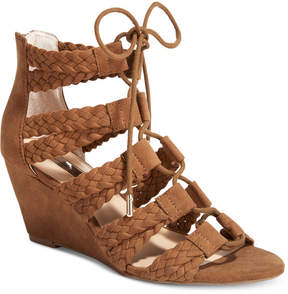 INC International Concepts Witley Lace-Up Wedge Sandals, Created for Macy's Women's Shoes
