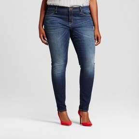 Ava & Viv Women's Plus Size Core Jeggings Dark Blue