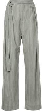 CHRISTOPHER ESBER extended band multi-tuck pants