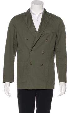 Jack Spade Twill Double-Breasted Jacket