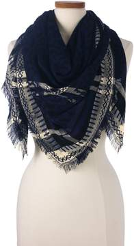 Lands' End Lands'end Women's Cheetah Jacquard Square Scarf