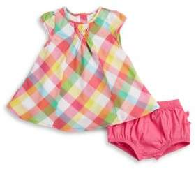 Absorba Plaid Dress and Bloomers Set