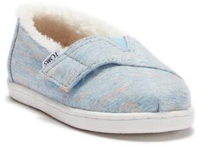 Toms Alaskan Blue Heather Jersey Faux Shearling Slip-On (Baby, Toddler, & Little Kid)