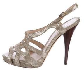 Fendi Suede Slingback Sandals
