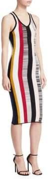 Cinq à Sept Stara Striped Knit Dress