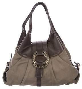 Bvlgari Leather-Trimmed Chandra Bag