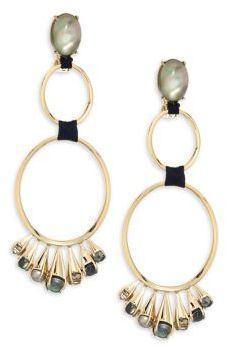 Alexis Bittar Elements Arrayed Cluster Dangling Clip-On Earrings