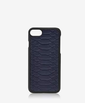 GiGi New York Iphone 7 HardShell Case In Navy Embossed Python