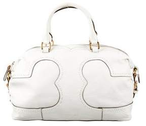 Tory Burch Logo Cut Out Satchel - WHITE - STYLE