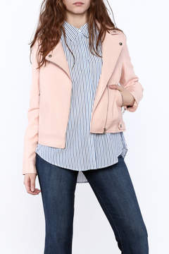 Blu Pepper Pink Motorcycle Jacket