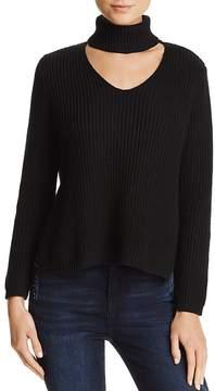 Aqua Cutout Turtleneck Sweater - 100% Exclusive