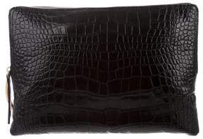 Lanvin Embossed Leather Clutch