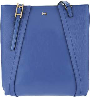 Halston H By H by Saffiano & Smooth Leather Shoulder Tote Bag