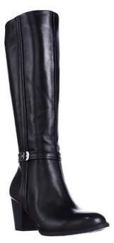 Giani Bernini Gb35 Raiven Knee High Buckle Boots, Black.