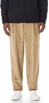 E. Tautz Pleated Corduroy Trousers