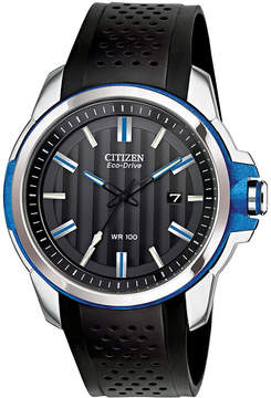 JCPenney DRIVE FROM CITIZEN ECO-DRIVE Drive from Citizen Eco-Drive Blue Accent Strap Watch AW1151-04E