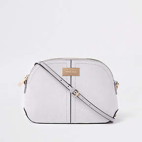 River Island Light grey kettle cross body bag