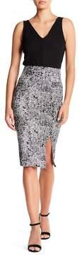 Clayton Printed Pencil Skirt