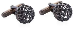 Bottega Veneta Men's Basketweave Sphere Cufflinks
