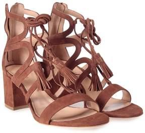 Lerre Lace-up Suede Cut-out Sandal