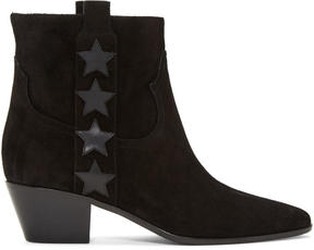 Saint Laurent Black Suede Rock Boots