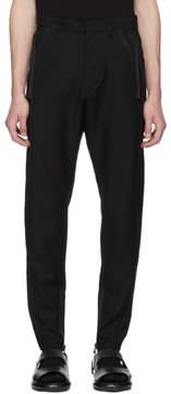 Julius Black Zip Twill Trousers