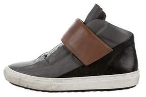 Pierre Hardy Two-Tone Leather Sneakers