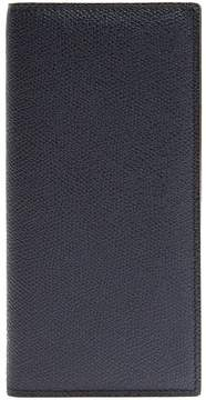 Valextra Vertical bi-fold grained-leather wallet