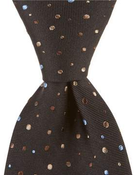 Murano Cosmic Dot Traditional 3.25#double; Silk Tie