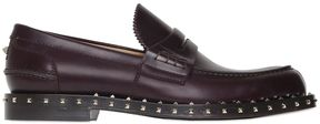 Studded Welt Leather Penny Loafers