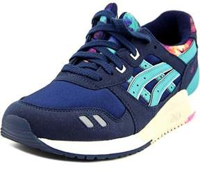 Asics Gel Lyte Iii Gs Youth Round Toe Suede Blue Sneakers.