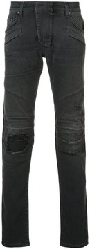 Pierre Balmain biker fitted jeans
