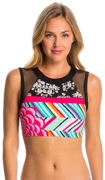 Coco Rave Swimwear Summer Patch Jane Crop Bikini Top 8144637