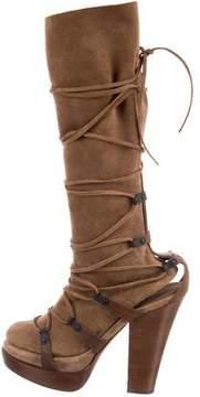 Bottega Veneta Suede Mid-Calf Boots