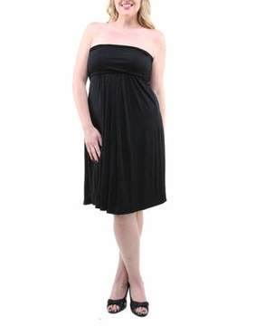 24/7 Comfort Apparel Women's Plus Size Strapless Dress