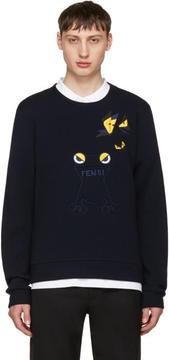 Fendi Navy Butterfleyes and Frogs Sweatshirt