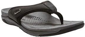Propet Black & Silver Harrison Flip-Flop - Men
