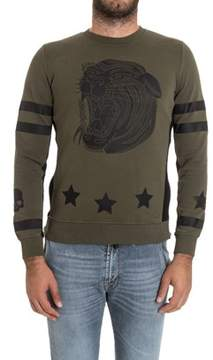 Hydrogen Men's Green Cotton Sweatshirt.