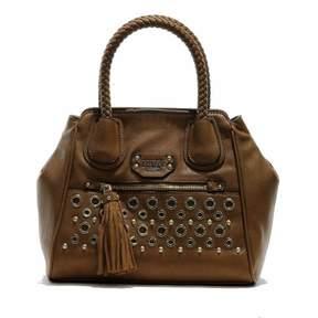 GUESS Women's Jodi VG436631 Small Satchel Handbag Cognac