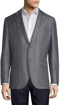 Lubiam Men's Glen Plaid Wool Sportcoat
