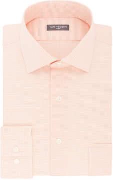 Van Heusen Flex Collar Big And Tall Long Sleeve Twill Pattern Dress Shirt