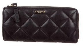 Kate Spade Quilted Leather Wallet - BLACK - STYLE