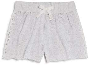 Splendid Girls' French Terry Shorts with Lace Panels - Big Kid