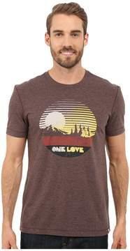 Life is Good One Love Sunset Circle Cool Tee Men's T Shirt