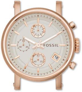 Fossil Original Boyfriend Chronograph Rose-Tone Stainless Steel Watch Case