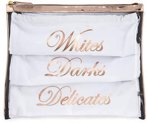Neiman Marcus Travel Laundry Bag Set, Rose Gold