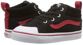 Vans Kids Racer Mid Black/Racing Red) Boys Shoes