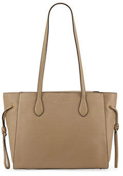Donna Karan East-West Leather Tote Bag